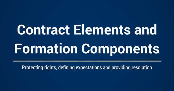 Key Components of a Contract and Formation Elements | Villanova