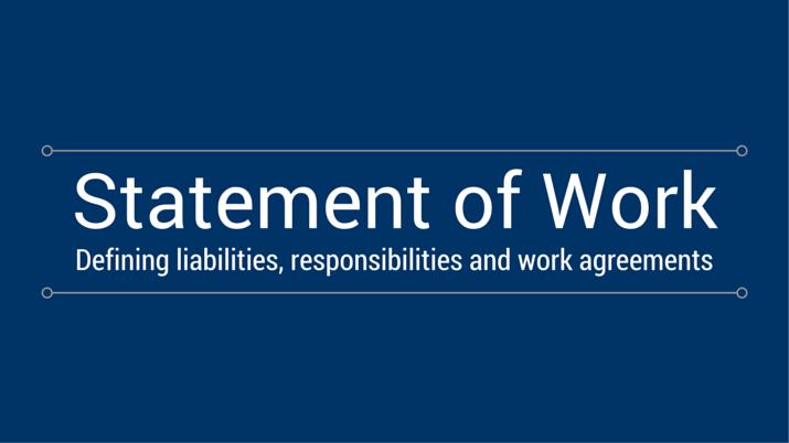 what is a statement of work villanova